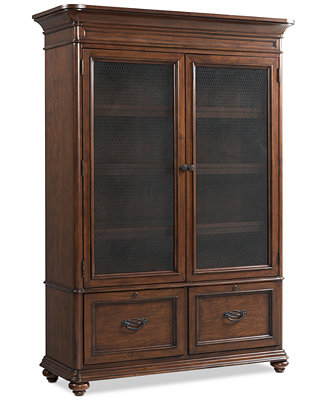 Clinton Hill Cherry Home Office Door Bookcase Created For