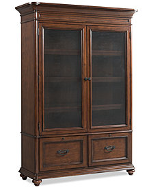 Clinton Hill Cherry Home Office Door Bookcase, Created for Macy's