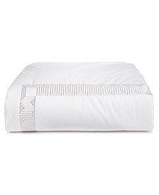 Greek Key Cotton Platinum Full/Queen Duvet Cover, Created for Macy's