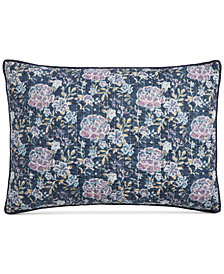 CLOSEOUT! Martha Stewart Collection Iridescent Peony Quilted Standard Sham, Created for Macy's
