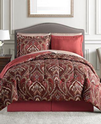 Norfolk Reversible 8-Pc. Full Comforter Set