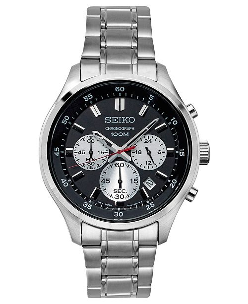 Seiko LIMITED EDITION Men s Chronograph Special Value Stainless Steel  Bracelet Watch ... 837601365a19