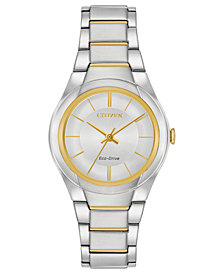 Citizen Eco-Drive Women's Two-Tone Stainless Steel Bracelet Watch 29mm