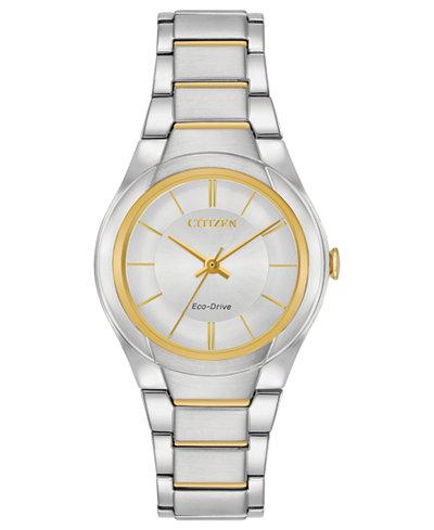 Citizen Eco-Drive Women's Two-Tone Stainless Steel Bracelet Watch 29mm