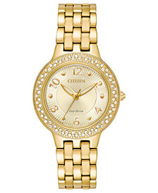 Citizen Eco-Drive Women's Gold-Tone Stainless Steel Bracelet Watch 31mm