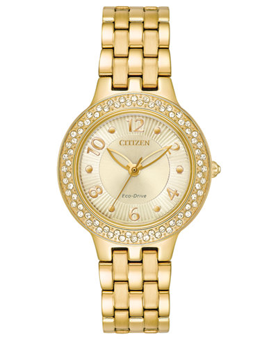 Citizen Eco-Drive Women's Gold-Tone Stainless Steel Bracelet Watch 31mm