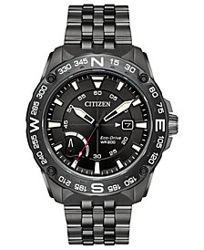 Citizen Eco-Drive Men's Dark Gray Stainless Steel Bracelet Watch 44mm