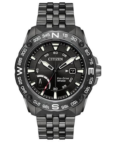 Citizen Eco-Drive Men's Dark Gray Stainless Steel Bracelet Watch 44mm