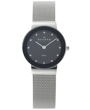 Skagen Watch, Women's Stainless Steel Mesh Bracelet 358SSSBD