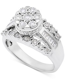 Diamond Dome Cluster Promise Ring (1/2 ct. t.w.) in Sterling Silver