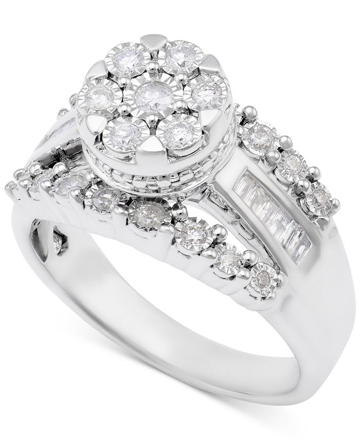 Promised Love - Diamond Dome Cluster Promise Ring (1/2 ct. t.w.) in Sterling Silver