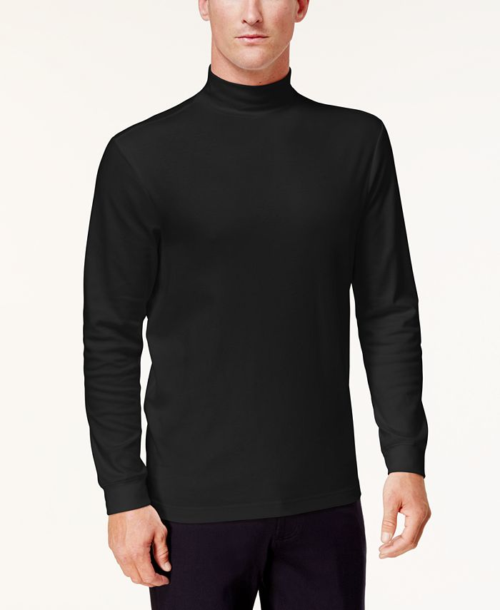 Club Room - Men's Solid Mock-Neck Shirt