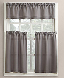 Lichtenberg No. 918 Martine 3-Pc. Microfiber Rod Pocket Kitchen Curtain Set