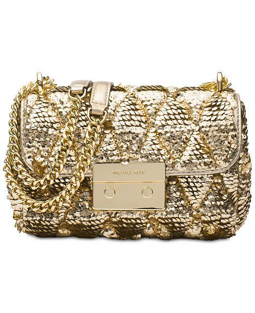 59d41441c6b1b0 Michael Kors Sloan Small Chain Shoulder Bag & Reviews - Handbags ...