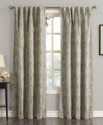 """Mayfield 54"""" x 63"""" Floral Blackout Rod Pocket Curtain Panel"""