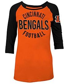 Women's Cincinnati Bengals Rayon Raglan T-Shirt