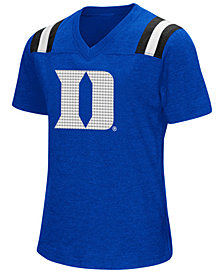 Colosseum Girls' Duke Blue Devils Rugby T-Shirt