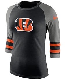 Nike Women's Cincinnati Bengals Stripe Raglan Triblend T-Shirt