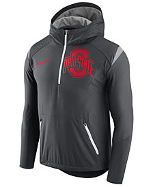 Nike Men's Ohio State Buckeyes Fly-Rush Quarter-Zip Hoodie