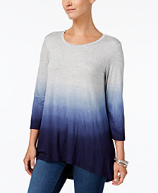 Style & Co Petite Ombré Top, Created for Macy's
