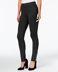 Petite Ponte Skinny Pants, Created for Macy's