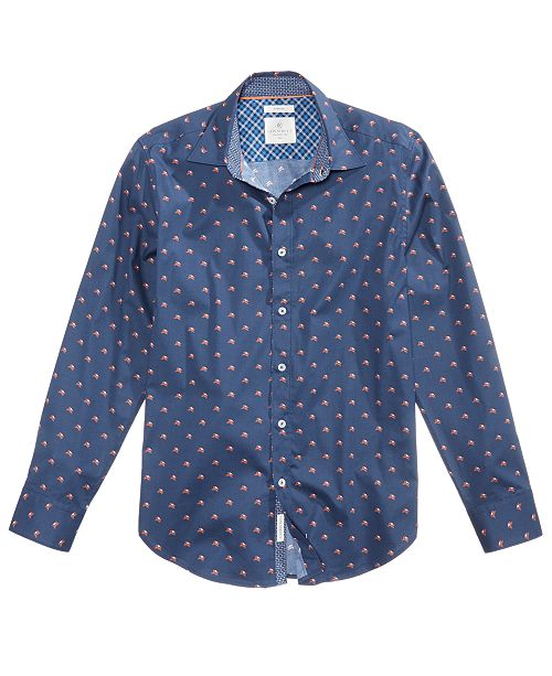 ConStruct Con.Struct Men's Slim-Fit Fox-Print Shirt, Created for Macy's