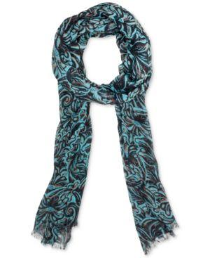 Patricia Nash Turquoise-Print Scarf 4920618