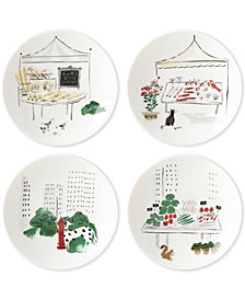 kate spade new york Union Square Accents 4-Pc. Tidbit Plate Set