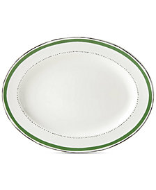 kate spade new york Union Square Green Platter