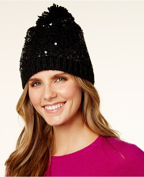 Betsey Johnson Sequin Beanie - Handbags   Accessories - Macy s bff3810a174