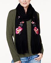 INC International Concepts Floral Embroidered Scarf, Created for Macy's