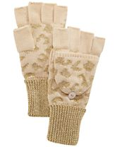 INC International Concepts Metallic Pop Top Gloves, Created for Macy's