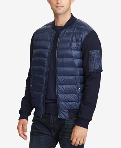 Polo Ralph Lauren Men S Paneled Down Bomber Jacket Coats