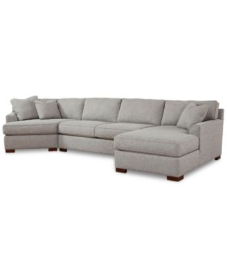 Furniture Carena 3 Pc. Fabric Sectional With Cuddler Chaise, Created For  Macyu0027s   Furniture   Macyu0027s