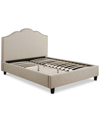 celeste upholstered platform bed king quick ship