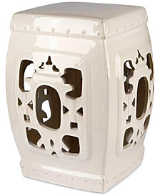 Serena Ceramic Garden Stool, Quick Ship