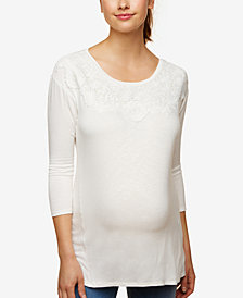 Motherhood Maternity Lace-Trim Blouse