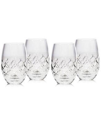 Eastbridge Stemless Wine Glass Set of 4, Created For Macy's