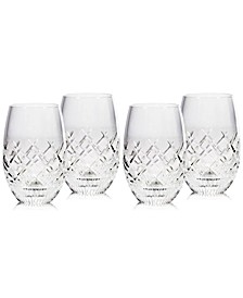 Eastbridge Stemless Wine Glass Set of 4, Created for Macy's