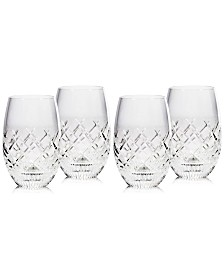 Waterford Eastbridge Stemless Wine Glass Set of 4, Created For Macy's