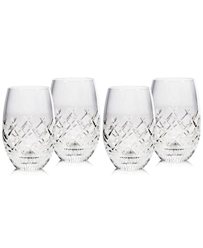 Waterford Eastbridge Stemless Wine Glasses, Set Of 4, Created For Macy's