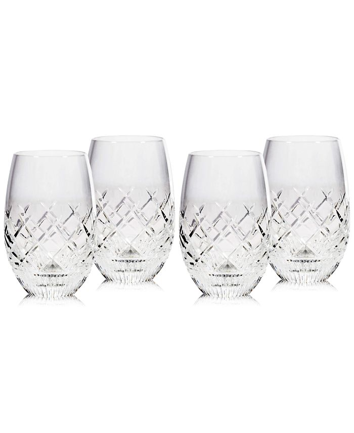 Waterford - Eastbridge 4-Pc. Stemless Wine Glass Set
