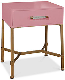 Ava Gold Iron End Table, Quick Ship