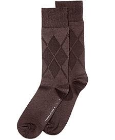 Perry Ellis Men's Socks, Cotton Modal Argyle