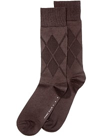 Perry Ellis Men's Socks, Cotton Modal Argyle