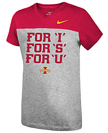 Nike Girls' Iowa State Cyclones Color Block Phrase T-Shirt