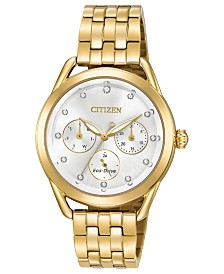 Citizen Drive from Citizen Eco-Drive Women's Gold-Tone Stainless Steel Bracelet Watch 38mm