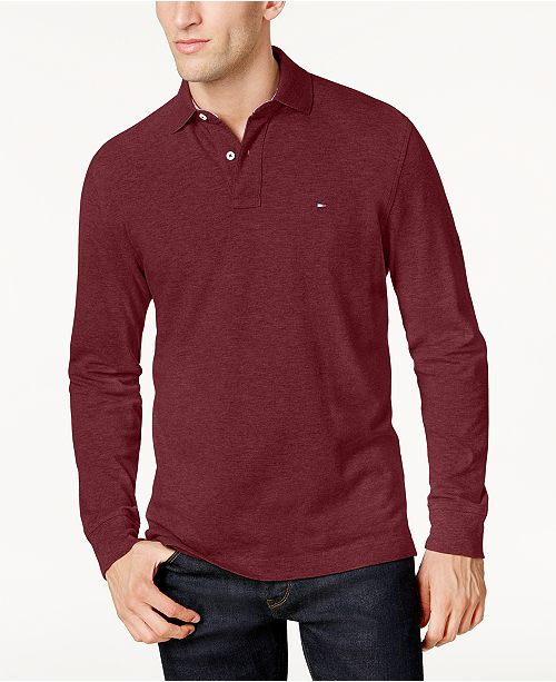 03eae1a09 Tommy Hilfiger Men s Long-Sleeve Classic-Fit Polo