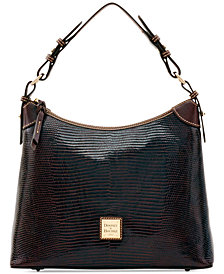 Dooney & Bourke Lizard-Embossed Hobo, Created for Macy's