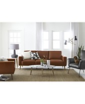 Marsilla Leather Sofa Collection Created For Macy S